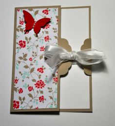 Card made with the new scalloped Tag Topper Punch plus a link to a video tutorial for demos only