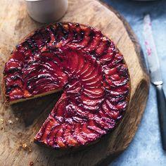 Buttermilk plum tort