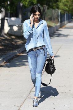 Kendall Jenner Look Denim West Hollywood 1