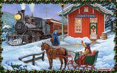 Christmas hometown-picking up Grandma Dawn and Poppa Brad