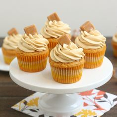 Tracey's Culinary Adventures: Brown Butter Pumpkin Cupcakes with Caramel Cream Cheese Frosting