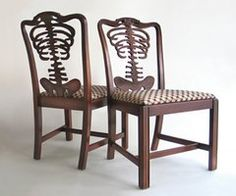 """""""Backbone"""" chairs...wonder if they are really comfy??"""
