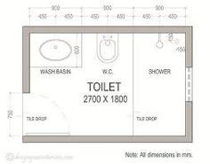 Resultado de imagen para arquitectura medidas de baños