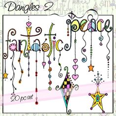 Dangles Alphabet Digital Stamps – Upper Case is a whimsical black and white line art alphabet with dangles for a total of 26 letters. All of the letters are close to the same size but the length of the dangles varies. Tangle Doodle, Doodles Zentangles, Zen Doodle, Doodle Art, Doodle Lettering, Creative Lettering, Doodle Patterns, Zentangle Patterns, Alfabeto Doodle