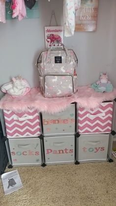 Excellent baby nursery tips are offered on our web pages. Read more and you wont be sorry you did. Baby Bedroom, Baby Room Decor, My Baby Girl, Baby Love, Baby Girl Diaper Bags, Baby Storage, Nursery Organization, Organization Ideas, Storage Ideas