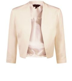 """Structured and streamlined with a luxe minimalist edge - this pink blazer is the perfect wardrobe investment. Keep the rest of the ensemble neutral.- Collarless design- Open front style- 3/4 sleeves- Boxy fit- Soft woven fabric- Model is 5'8""""/176cm and wears UK 10/EU 38/US 6"""
