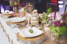 Purple Green DIY Rustic Wedding Inspiration    www.WeddingGirl.ca