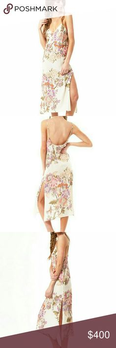 BNWT Spell Blue Skies Slip Dress- Creme XS BNWT SOLD OUT IN XS!! Absolutely beautiful!! I need a small:(  The Blue Skies Slip Dress in Cream is a classic 90's inspired slip in our original vintage-esque floral print. A flattering, easy-wear, slip-on dress in beautiful cream, perfect for laid back summer style. Throw it on with your favourite slides, dress it up with a leather jacket and heels for evening soiree wear. The slip is lined for easy wear.  Price is firm - sold out and I need a…