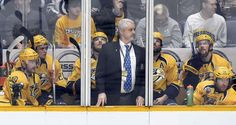 Crowded box:   From left, Nashville Predators' Mattias Ekholm, of Sweden, Miikka Salomaki, of Finland, Colin Wilson, Mike Fisher, Ryan Ellis, and James Neal sit in the penalty during the third period of an NHL hockey game against the Winnipeg Jets on Nov. 14 in Nashville, Tenn. The Predators won 7-0. - © Mark Zaleski/AP Photo