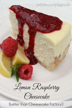 Raspberry-Lemon Cheesecake with Lemon Shortbread Crust   (Better than Cheesecake Factory!) By Amy J., recipe contributor         The Chees...