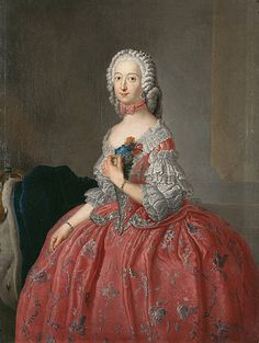ca. 1744 Herzogin Philippine Charlotte von Braunschweig-Wolfenbüttel by Antoine Pesne (location unknown)