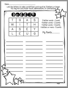 How to use Boggle in Word Work - Sunny Days in Second Grade.  Fun--and the blogpost is very helpful!
