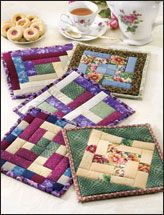 English Garden quilted pot holders