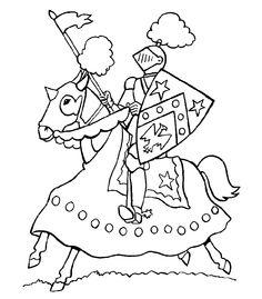 kleurplaten van ridders en jonkvrouwen