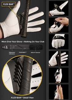 The Grip Solid golf training aid is a thin rubber strap, which uses innovative 3D FLEX•BAR technology to solve grip pressure and position pr...