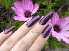 Amandine nail art kiko violet