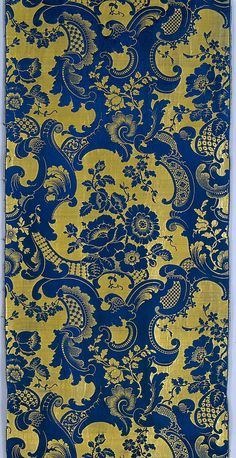 Piece Date: ca. 1850 Culture: French Medium: Silk Dimensions: L. 98 x W. 21 inches (248.9 x 53.3 cm) Classification: Textiles-Woven Credit Line: Rogers Fund, 1948
