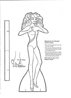 Mostly Paper Dolls: Another BARBIE Paper Doll To Color