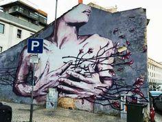 When your heart is flowering… Street Art Graffiti, Street Artists, Cool Photos, Interesting Photos, Your Heart, Creative, Flowers, Painting, Murals