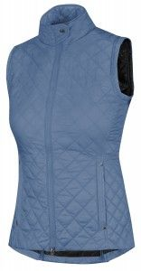 The Irideon Ladies' Zendahla Quilted Vest is a fashion-forward outerwear piece in pretty winter tones. It is a stand-out staple for fall. 80g polyfill in the body and