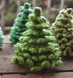 Crocheted amigurumi christmas (pine) trees // Horgolt amigurumi karácsonyfák (fenyőfák) // Mindy - craft tutorial collection
