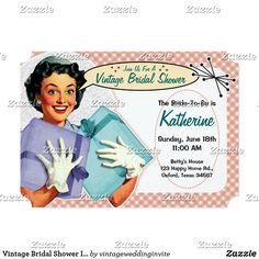 b94b769098c 32 Best Retro Housewife Bridal Shower Invitations
