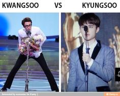 On a scale of Kwangsoo to Kyungsoo how tall are you? XD