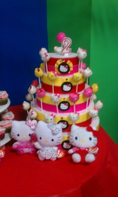 Cake Pops Pink, White and Yellow Hello Kitty
