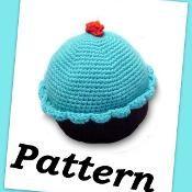 Crochet cupcake pillow PDF pattern - via @Craftsy