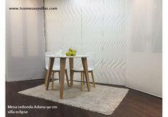 mesa fija redonda blanca en 70, 75, 80, 85, 90, 95, 100 , 110, 120 cm de diametro, barata, elegante y de alta calidad, pequeña