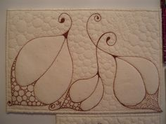 fabric postcard | This is another of my Zentangle style postcards ... I am really liking ...