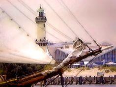 'Der Leuchtturm von Warnemünde' von Dirk h. Wendt bei artflakes.com als Poster oder Kunstdruck $18.03
