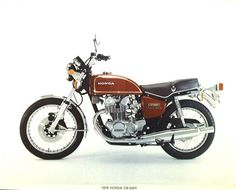 1976 Honda CB500t.  This was my second motorcycle.  I bought this from my older brother.  Good transportation during the early college years.