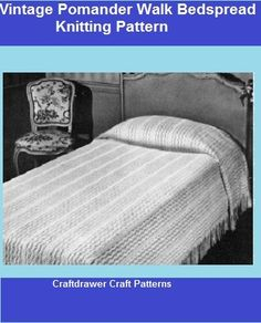 A vintage bedspread to knit using bedspread cotton thread, the size can be adjusted to make a twin, full or a queen size bedspread. Use your favorite color of crochet cotton thread or bedspread cotton to make a one of kind bedspread pattern.Photos and Complete pattern(s) providedThis is a PDF Download