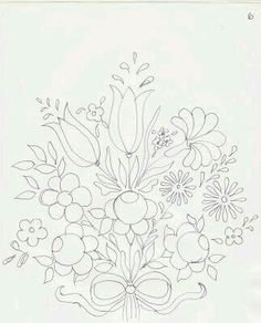 Fabric Painting Step by Step with Photos: Bauernmalerei Risk Painting Fabric Hungarian Embroidery, Hand Embroidery Designs, Embroidery Applique, Embroidery Stitches, Painting Templates, Painting Patterns, Embroidery Flowers Pattern, Floral Embroidery, Tole Painting
