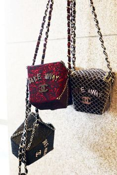 "CHANEL : ""TAKE AWAY"" Bag 