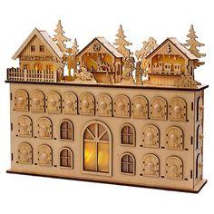 LED Wooden Christmas Advent Calendar : Target