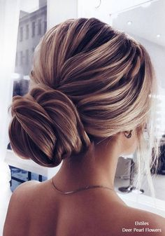Elstiles long wedding updo hairstyles for bride