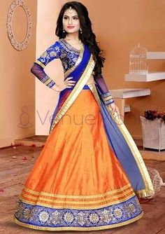 girls! The Bridesmaids are not to be ignored, this wedding season. After all, they are the ones stealing the spotlight after the couple getting married. In an Indian traditional wedding, there are a number of ceremonies to be held apart from the wedding. So, VenueMonk brings you some apparel trends, straight from the ramp! Let's have a look: Orange Lehenga, Black Lehenga, Bridal Lehenga Online, Sparkle Outfit, Banarasi Lehenga, Lehenga Style, Bridesmaid Outfit, Bridesmaids, Choli Designs