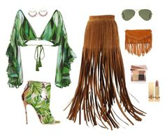 """""""Fringe"""" by anitacstylistconsultancy on Polyvore featuring Hermès, Dsquared2, Água de Coco, Scosha, SUSU, Ray-Ban, Bobbi Brown Cosmetics and Yves Saint Laurent"""