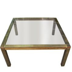 Square Glass Coffee Table, Coffee Table With Stools, Modern Coffee Tables, Mid Century, Brass, Smoke, Kitchen, Home Decor, Cooking