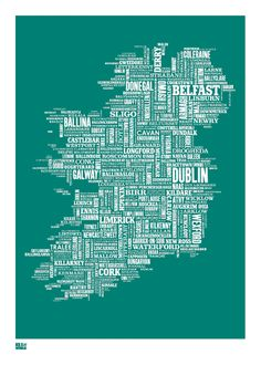 Hand pulled screen print from Bold & Noble at www.articledublin.com