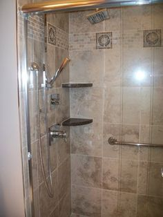 Modern Shower With Continuous Floor Tile And Curbless Entry Modern Showers Other Metro