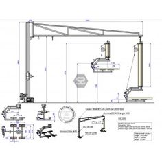 Manut Complete Vacuum Lifter for Panels 180kg x 5m in 2020