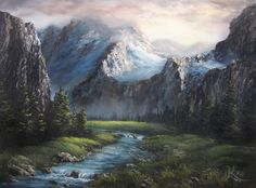 """""""Sunrise in the Valley"""" by Kevin Hill  paintwithkevin.com"""