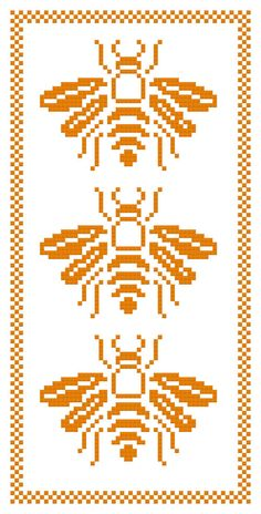 We Three Bees a Counted Cross Stitch Pattern by WooHooCrossStitch, from Etsy Cross Stitch Bookmarks, Cross Stitch Charts, Cross Stitch Designs, Cross Stitch Patterns, Bee Embroidery, Cross Stitch Embroidery, Embroidery Patterns, Cross Stitch Animals, Tapestry Crochet