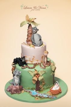 The jungle book Made for a first birthday. Happy birthday baby Carlotta https://www.facebook.com/laurae.virna
