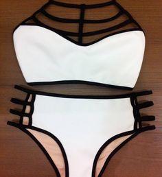 nice Online Shop 2015 Summer Style bikini high waist swimsuit Halter neck Swimwear women's bikinis set Swimsuit push up bikini bathing suit Two Piece Bikini, Push Up Bikini, Bikini Babes, Bikini Swimwear, Women's Bikinis, High Waist Bikini, Bikini Tops, Bikini 2017, Sexy Bikini