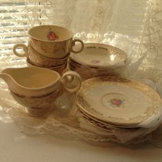 Taylor Smith Taylor TST Cup Saucer Berry by DiVintageBlessings, $7.00