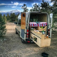Get busy cooking breakfast in nature with a pull out kitchen! : @kris_lunning